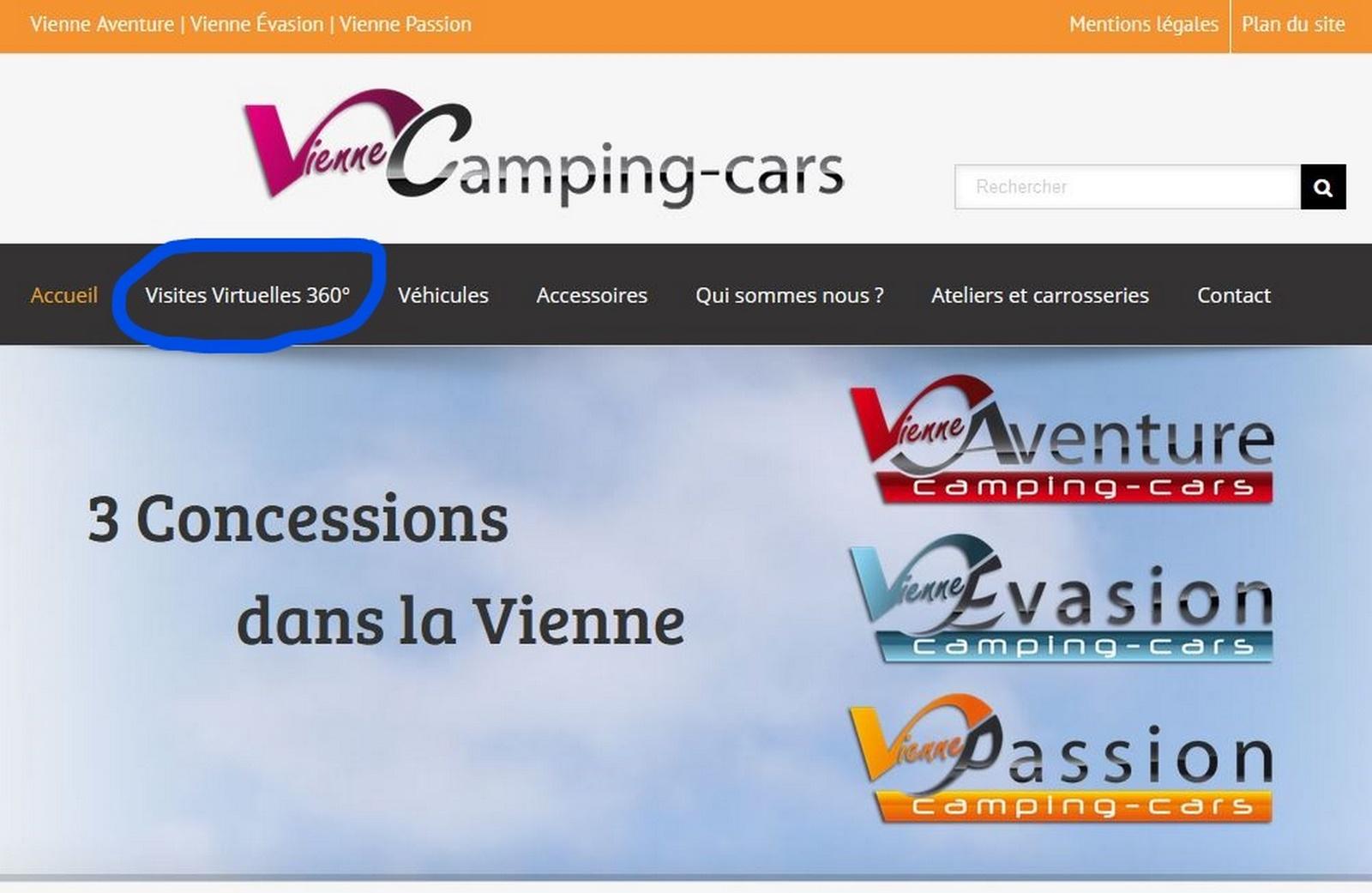 intégration menu visite virtuelle